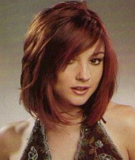 With layer cut and with long bob haircuts, all kinds of bangs can be ...