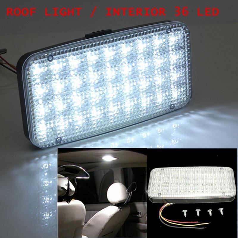 White 12V 36 LED Car Truck Auto Van Vehicle Ceiling Dome