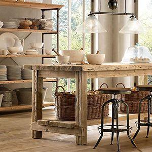 Mesas de cocina de madera buscar con google cocina m s - Mesa de cocina rustica ...