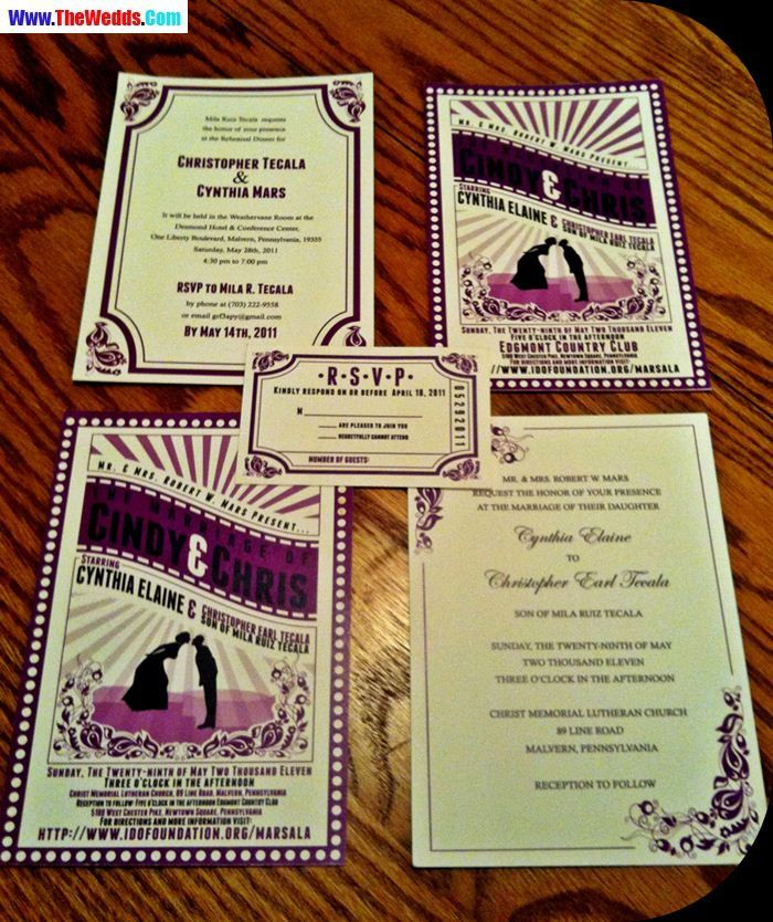Movie Theme Wedding Invitation Movie Theme Wedding Ticket Wedding Invitations Wedding Invitation Images