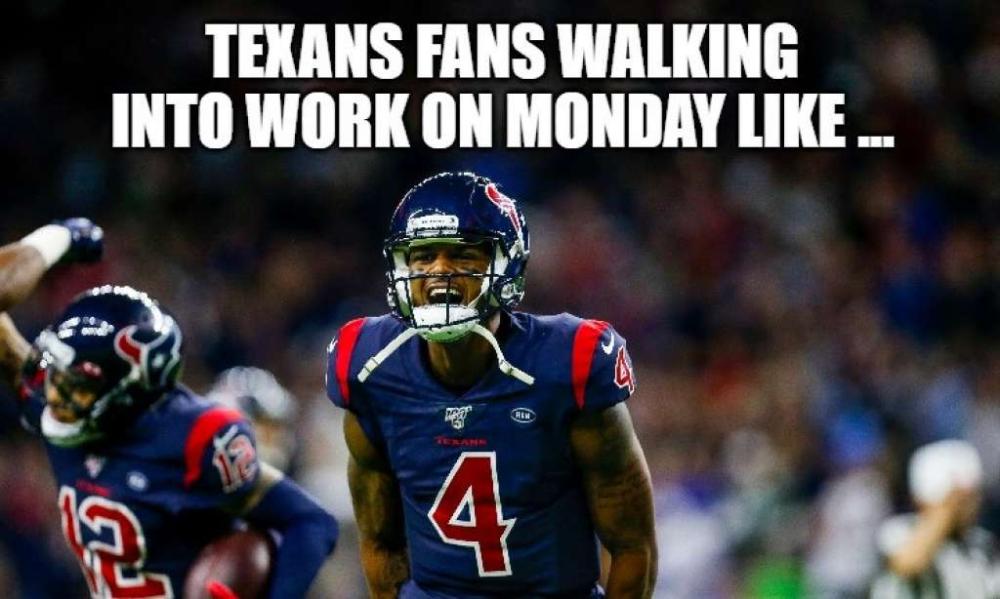 Stunning Texans Win Over Patriots Sparks Hilarious Memes Memes Sarcastic Football Memes Nfl Memes