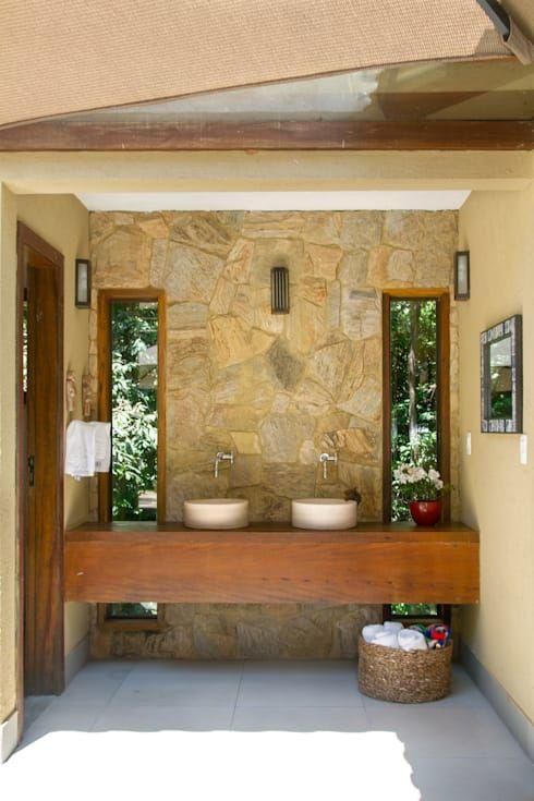 15 kleine badkamers met natuursteen en hout - we love it ...