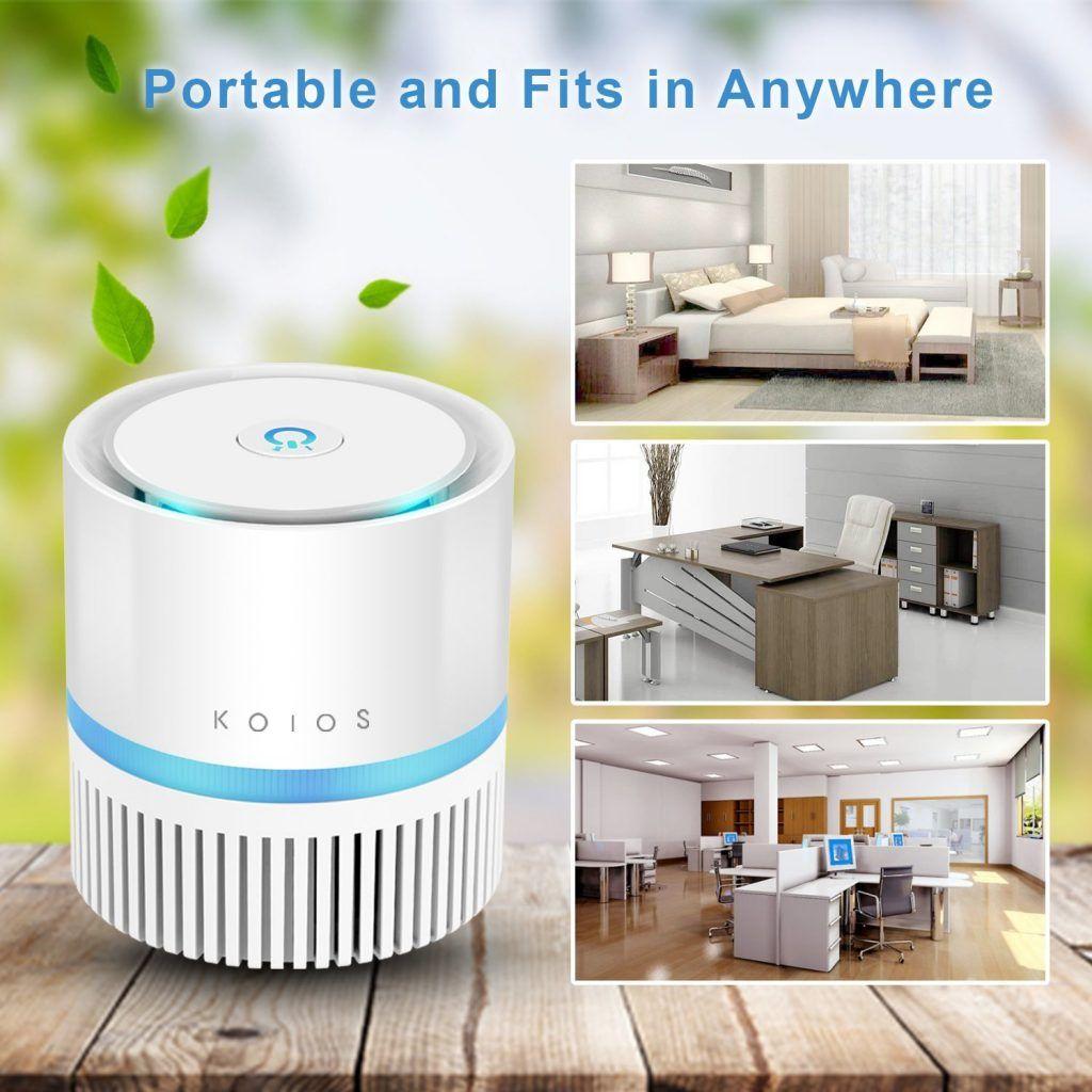 Koios Desktop Air Purifier with True HEPA Filter