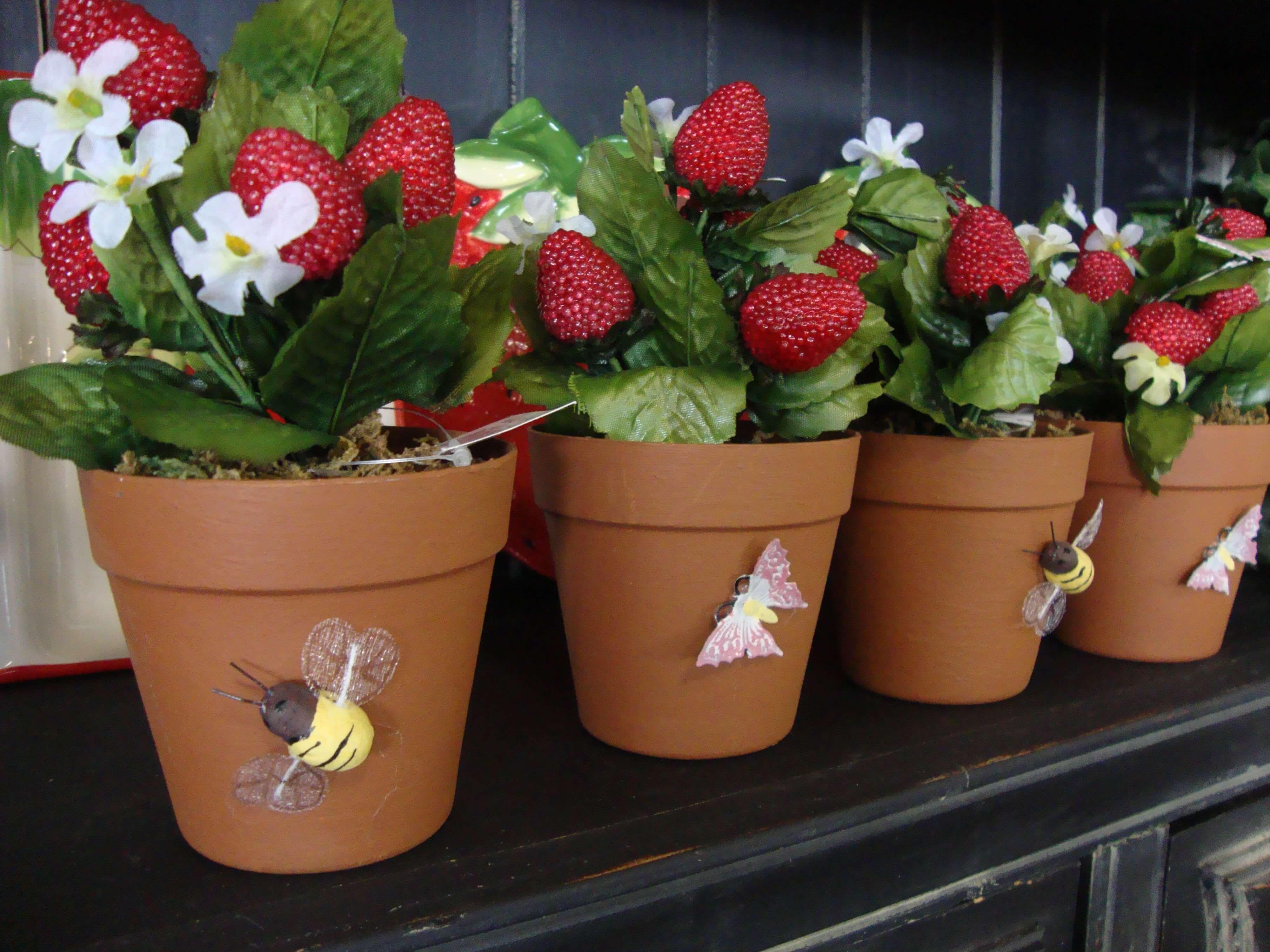 how do you plant a strawberry pot