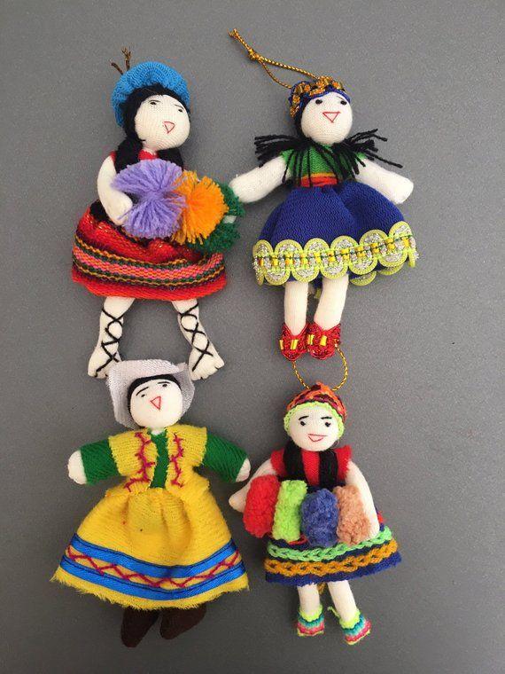 Peruvian ornament Set Set of 4 hand made peruvian super ...