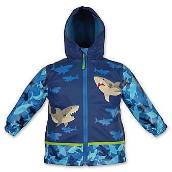 084de9df8 Stephen Joseph® Shark Raincoat in Blue   Zane's   Toddler raincoat ...