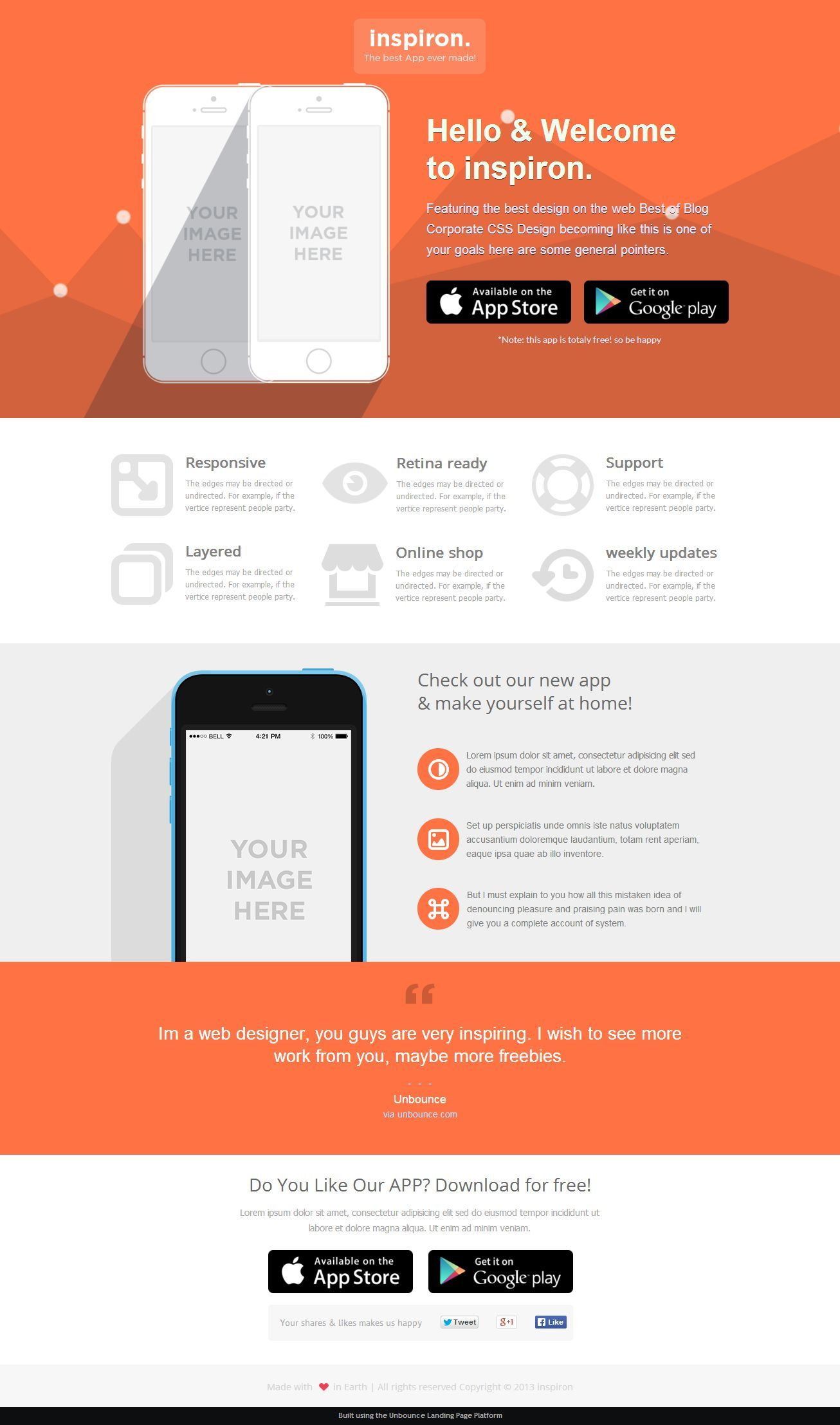 Inspiron Unbounce Landing Page Template Page Template Landing Page Unbounce