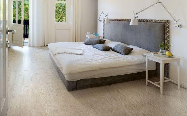 Wood Look Porcelain Tiles Padded Headboard Bedroom Wood Look