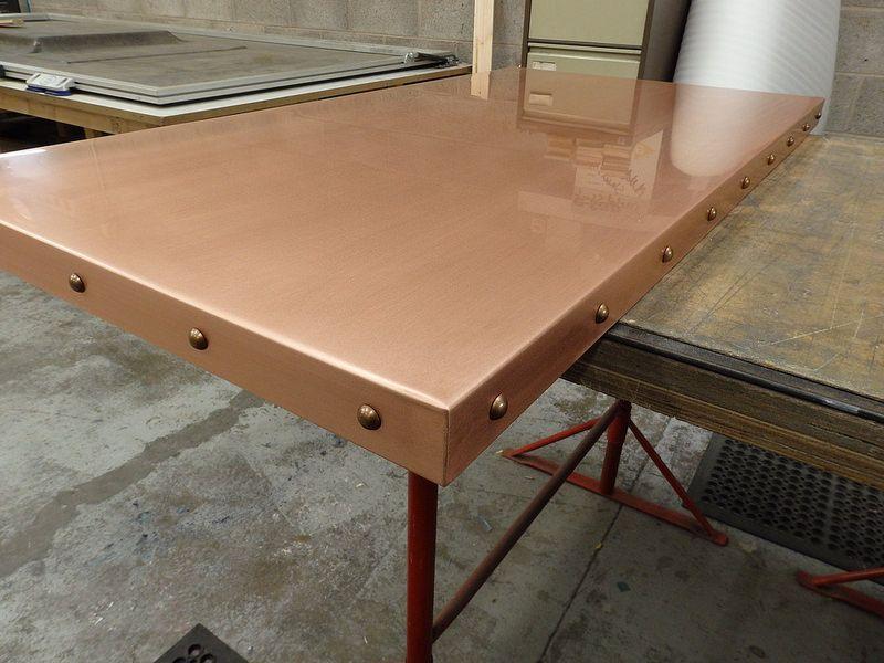 Best 48 Natural Copper Top With Antique Bronze Studs Copper 400 x 300