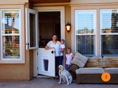 Plastpro Smooth Fiberglass Model Drs4180 Dutch Door With Doggy Door
