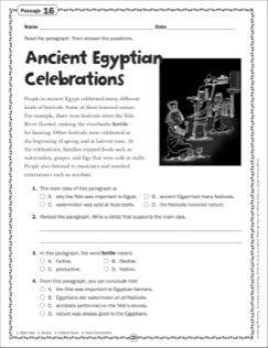 The Ancient Egyptian Celebrations Grade 6 Close Reading Passage Printables Close Reading Passages Reading Passages Egyptian