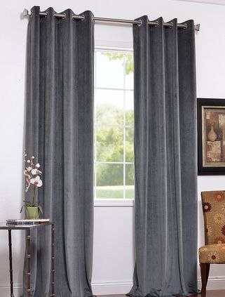 I Like These Grey Curtains For The Living Room Curtain Pole