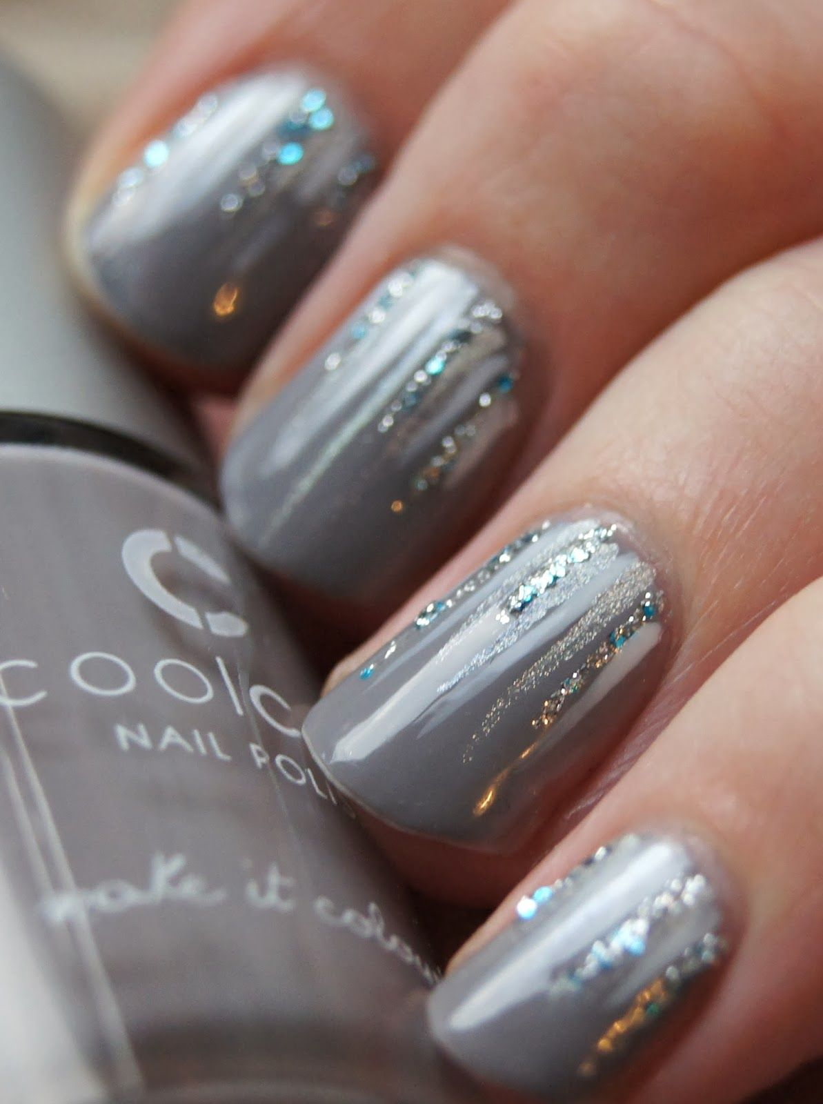 Waterfall nails, from NegleNymfer.dk | nails | Pinterest | Nail nail ...