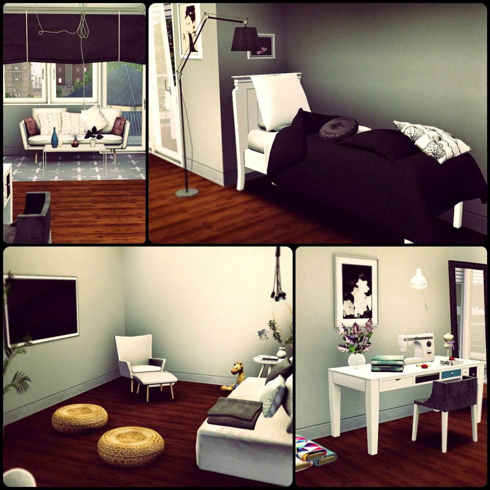 Simberry Apartment 4D / Sims 3 / Download / Teenager Room