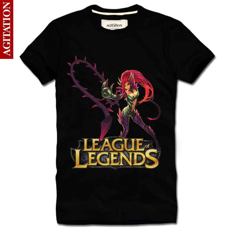Cool Designs League OF Legends T Shirt LOL zyra New Style4 Black