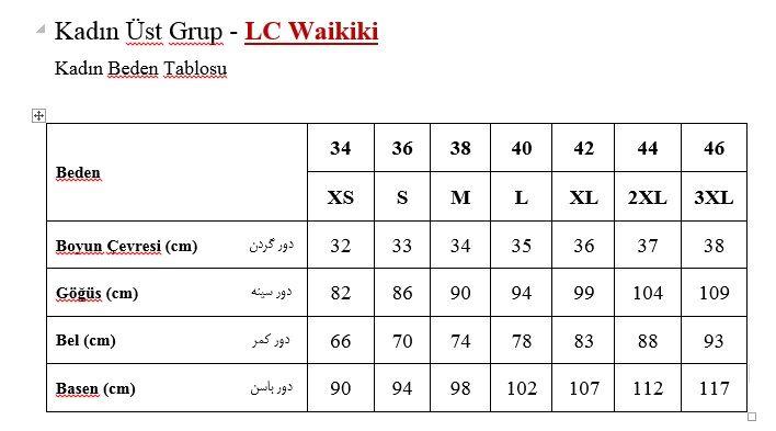Lc waikiki also woman   size chart pinterest women and rh