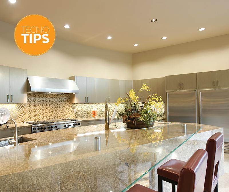 Ilumina tu cocina correctamente enmarca el techo con - Luz para cocinas ...