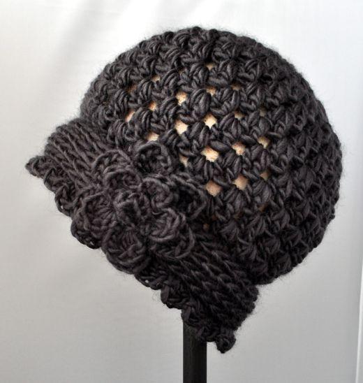 Crochet Vintage Flowered Cloche Pattern | Häkeln, Stricken und Netz