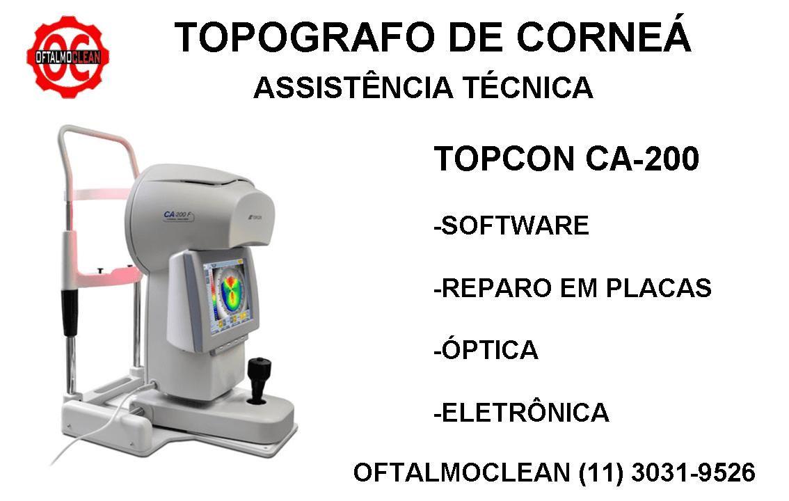 Assistencia Tecnica Para Topografo Topcon Ca 200 Oftalmoclean In 2020