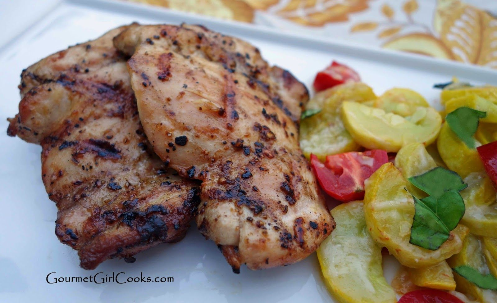 Gourmet Girl Cooks: Grilled Spice Rubbed Chicken & Summer Squash Tomato Medley