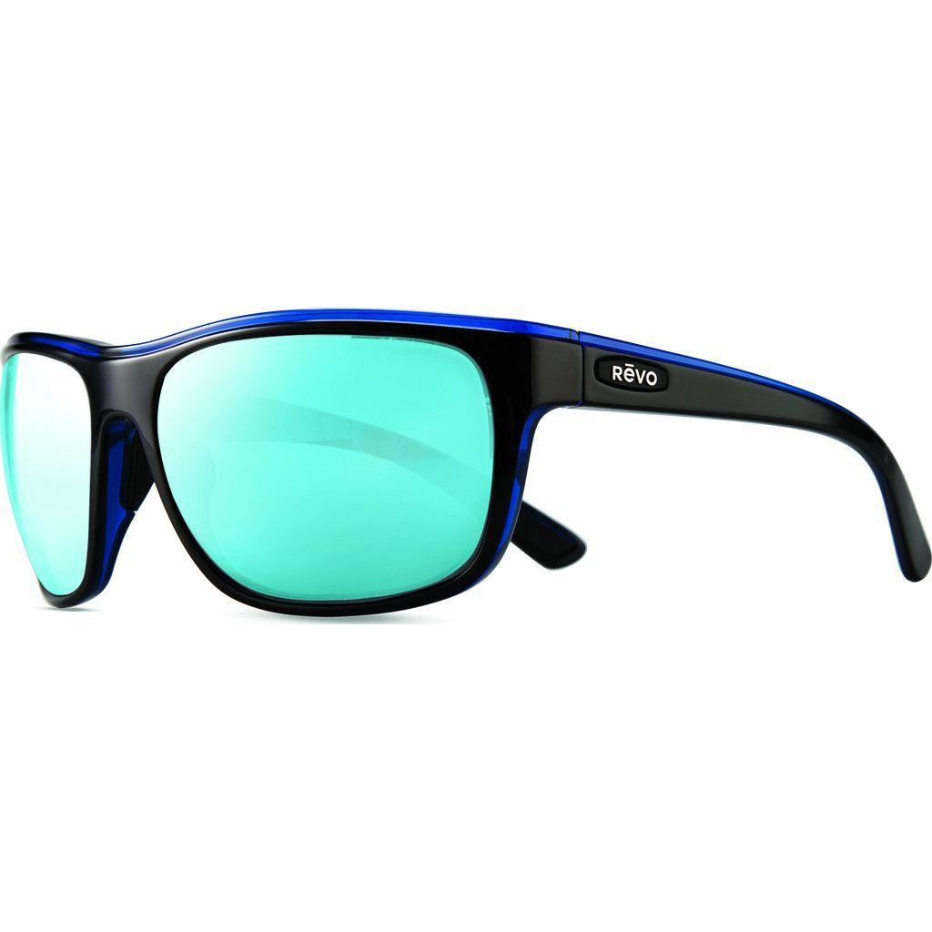 Rēvo Eyewear Remus Black/Blue Sunglasses | Blue Water