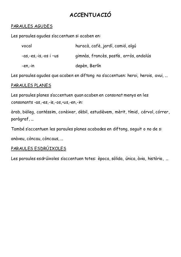 Ortografia Síl Laba Accent Gràfic Diftongs Hiats Dígrafs Catalan Language Language Oral