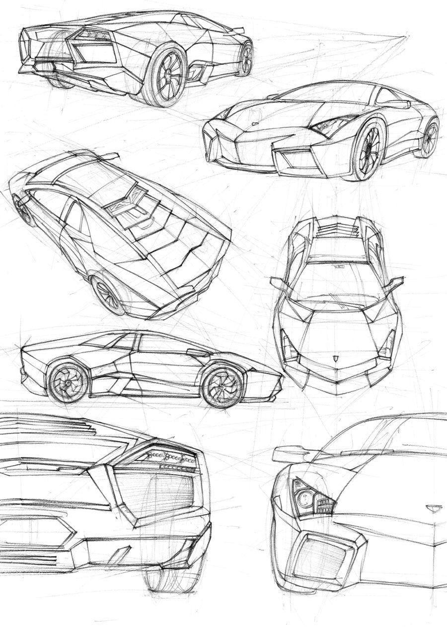 lamborghini sketching - Tìm với Google | ANATOMIA | Pinterest ...