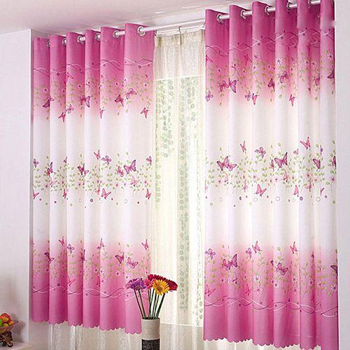 NEW Tulip Flower Printed Door Screen Room Devider Window Curtain Drapes Balcony
