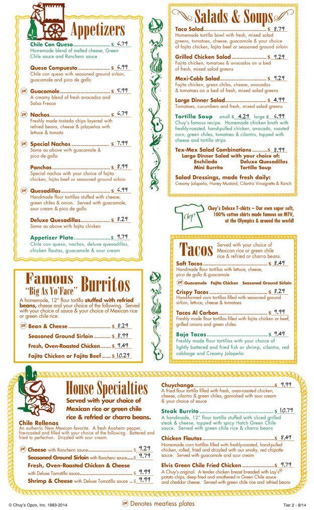 Chuy S Mexican Restaurant Gainesville Restaurant Menus Order Food Delivery Chuys Restaurants That Deliver Menu Restaurant