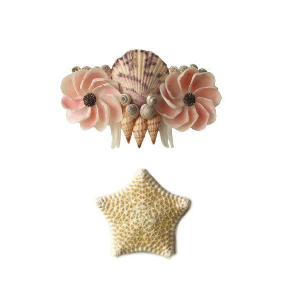 Vintage Victorian Style Barrette Ocean Art Shell by TheMermaidsBox, $25.00