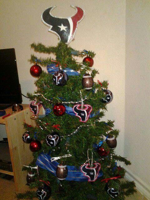 Hepled made this homemade Texans Christmas Tree for my little nephew! - Hepled Made This Homemade Texans Christmas Tree For My Little Nephew
