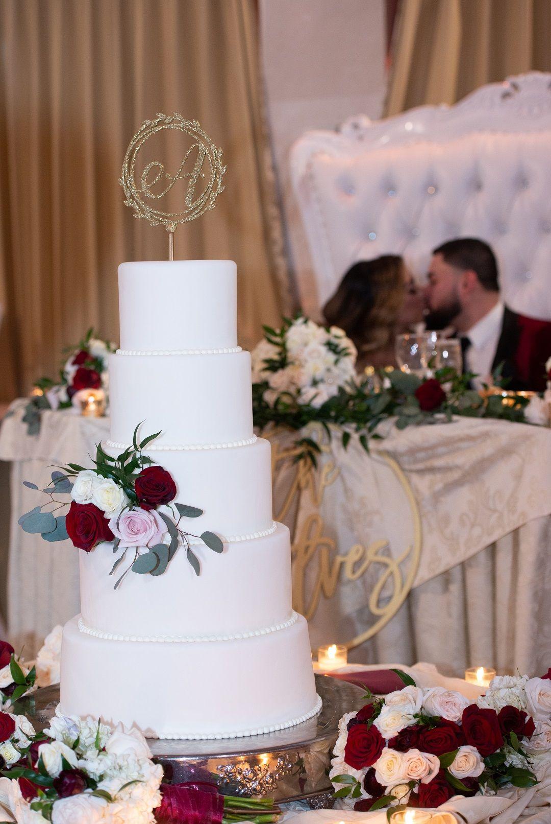 Perfect white fondant wedding cake for NJ wedding in 2020