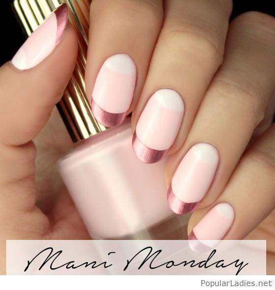 Light pink nail polish matte and pink tips   Light pink nails, Pink ...