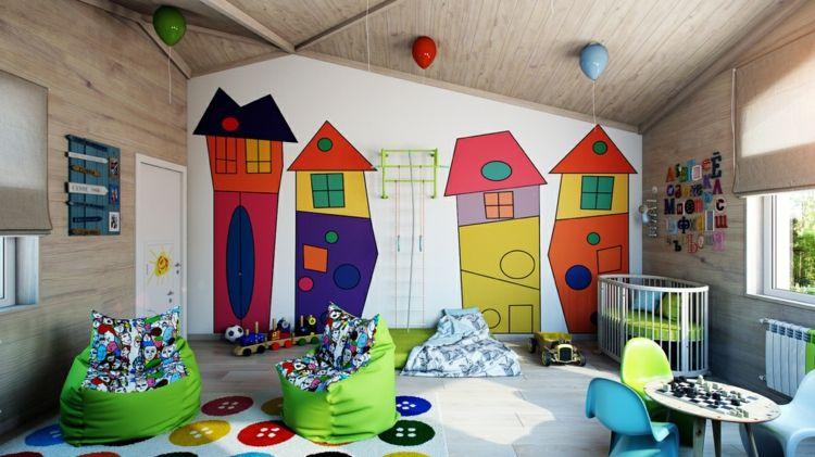 Farb- und Wandgestaltung im Kinderzimmer \u2013 77 tolle Ideen