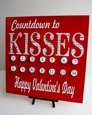 DIY Countdown to Kisses Calendar (made with Hershey Kisses)