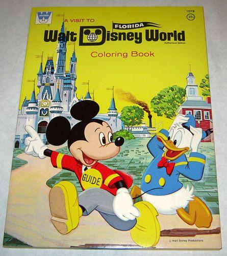 Vintage 1971 Whitman Walt Disney World Coloring Book Unused Mint Mickey Mouse