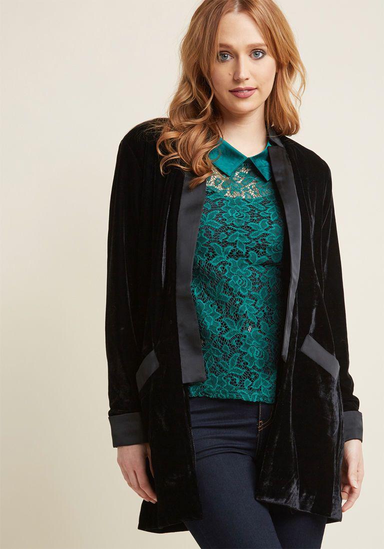 e2e360bd0e5a Subtly Suave Velvet Blazer in M   Products   Velvet blazer, Black ...