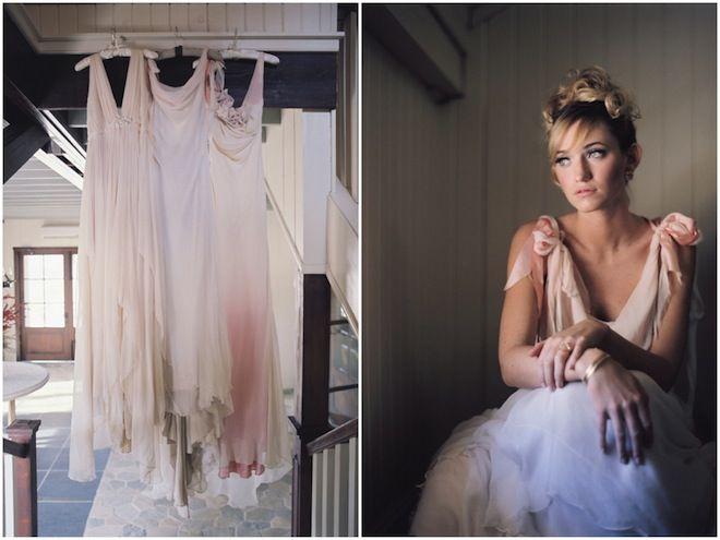 3 utterly gorgeous pastel hued wedding dresses ~ photo by Eric Kelley