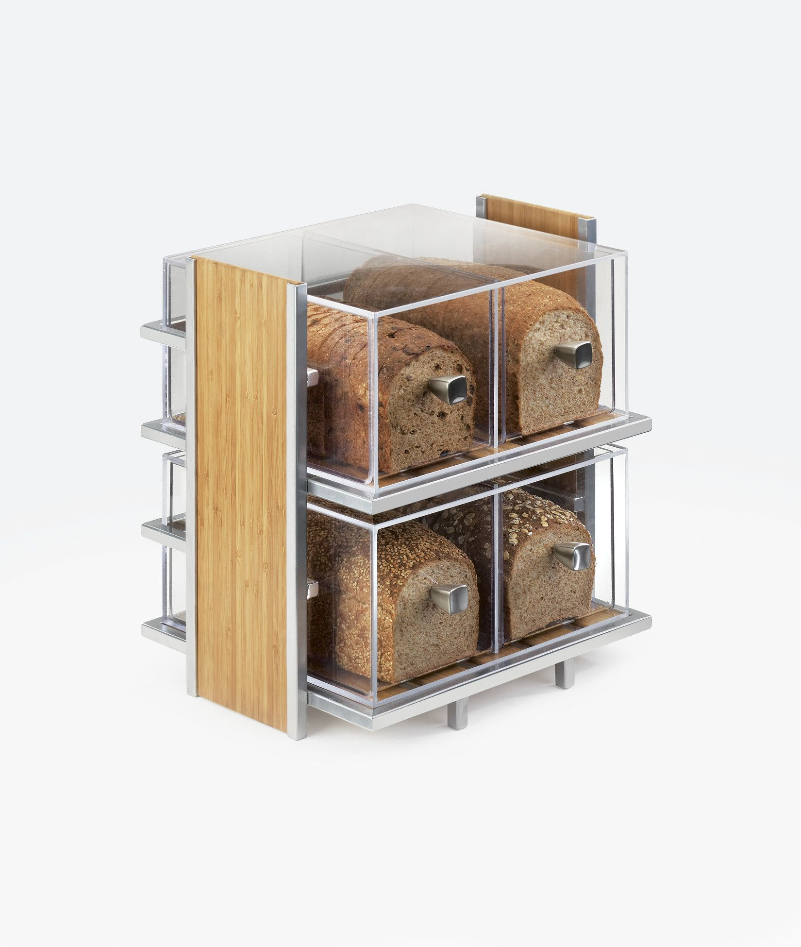 Tin bread box drawer insert - Features Two Each 2 Drawer Bread Boxes Included Eco Modern Collection