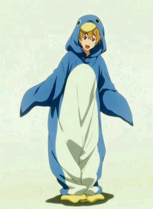 Nagisa The Penguin Free Iwatobi Swim Club Free Anime Free Iwatobi