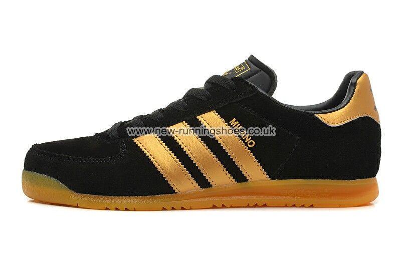 adidas originals black and gold trainers