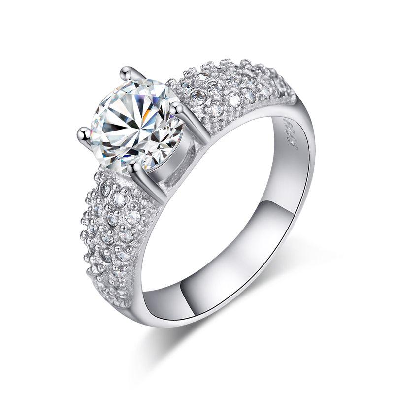 Jexxi elegant wedding engagement finger ring bands jewelry