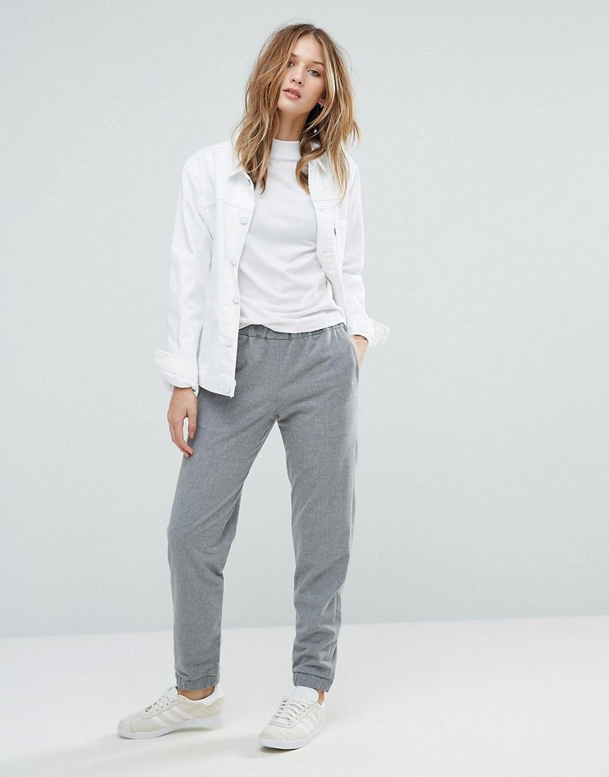 Buy It Now French Connection Flannel Jogger Grey Sweatpants By French Connection Stretch Flannel Stretch Waistband Trousers Women Joggers Womens Joggers