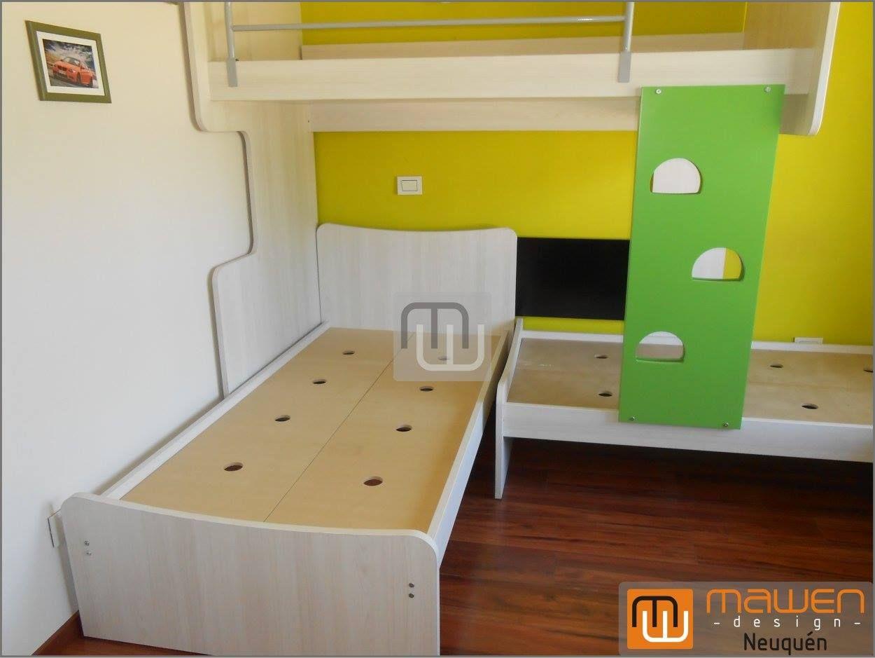 Cucheta desplazada con 2 camas bajas para dormitorio de 3 chicos ...