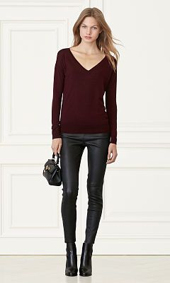 ae1989fb53 Merino Wool V-Neck Sweater - Collection Apparel V-Necks - RalphLauren.com