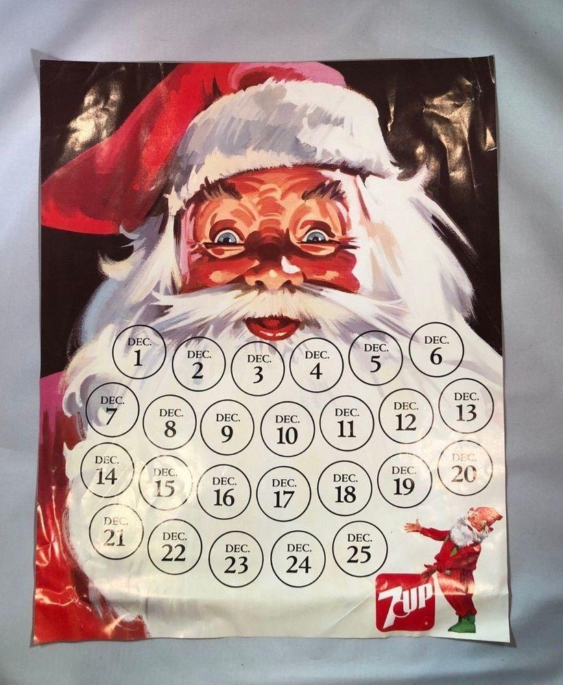 7Up Christmas Advent 25 Days 'til Christmas Calendar w