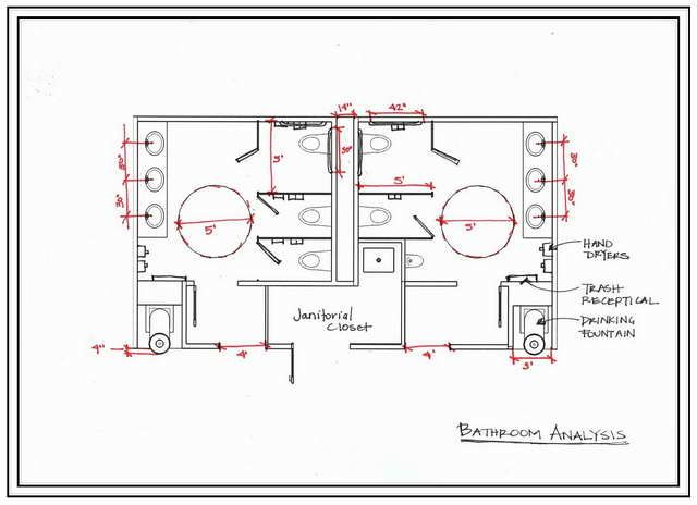 for Ada bathroom floor plans