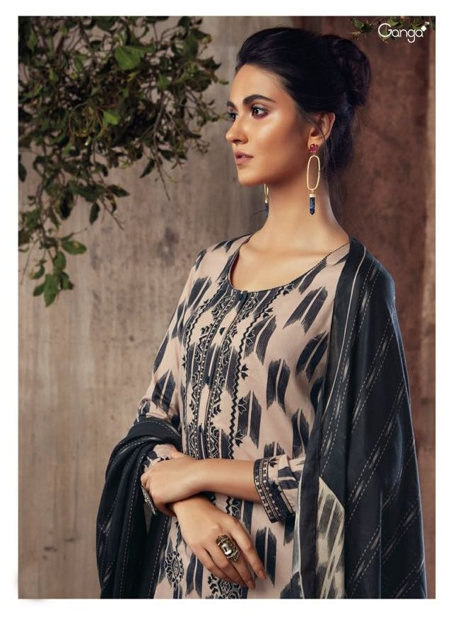 6a5679f629b Ganga Platonic Times Fancy Designer Printed Silk Satin with Embroidery work  Dress Material Collection at Wholesale Rate