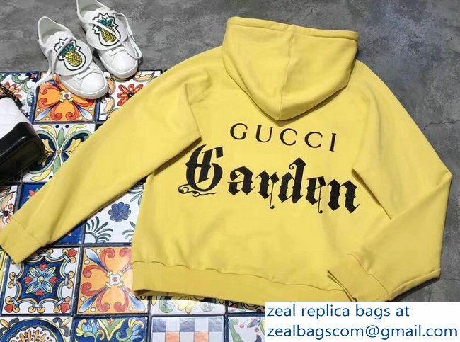 3449197ed44 Gucci Garden Yellow Sweatshirt 2018