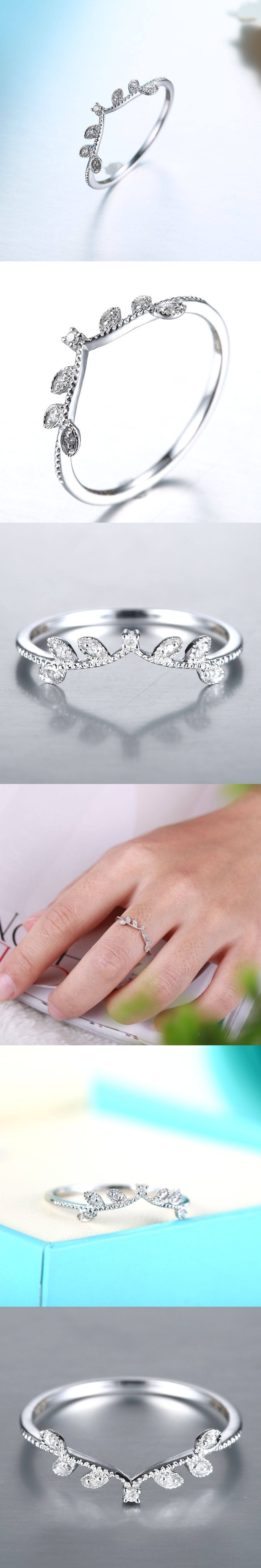 womens band image rings diamond round gold white wedding bands